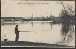 CPA - NANTES - Confluent De La Sèvre Et De La Loire (pêcheur à La Ligne) - Edition G.I.D. - Nantes