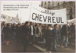 CPM - ANGERS - Scènes De La Vie Angevine - Manifestation Enseignants Parents Et élèves - 12-1994 - Edition Cartophile - Angers