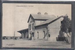 Carte Postale 18. Sancoins  La Gare Très Beau Plan - Sancoins