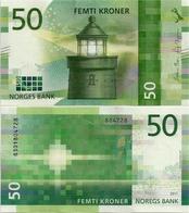 NORWAY       50 Kroner        P-New        2017 (2018)       UNC - Noorwegen