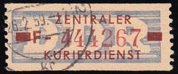 20-F Dienst-B, Billet Braun Auf Violett, Gestempelt - DDR