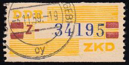 25-Z Dienst-B, Billet Blau Auf Gelb, Gestempelt - [6] République Démocratique