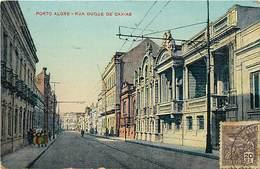Pays Div -ref N117- Bresil -brasil  -porto Alegre - Rua Duque De Caxias  - Carte Bon Etat - - Porto Alegre