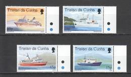 P841 TRISTAN DA CUNHA TRANSPORT VISITING CRUISE SHIPS #642-5 !!! MICHEL 12 EURO !!! 1SET MNH - Barcos