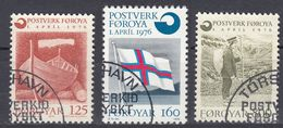 FØROYAR - 1976 - Serie Completa Usata: Yvert 15/17 Per Complessivi 3 Valori. - Emissioni Locali