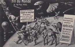 CARTE FANTAISIE. CPA. CARTE OFFICIELLE DE LA FIN DU MONDE LE 19 MAI 1910 .  AFFRANCHIE ANNEE 1910 + TEXTE - Illustrators & Photographers