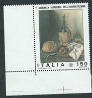 Italia, Italy, Italie, Italien 1981; Fiasco E Bicchiere Con Vino, Bottle And Glass With Wine. Angolo. - Vini E Alcolici
