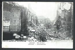 +++ CPA - LOUVAIN - LEUVEN - Rue De Diest - Ruines - Guerre - Diestschestraat // - Leuven