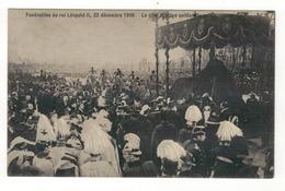 Funérailles Du Roi Léopold II, 22 Décembre 1909.  Le Char Funèbre Quittant Le Palais. - Funérailles