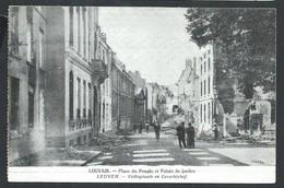 +++ CPA - LOUVAIN - LEUVEN - Place Du Peuple Et Palais De Justice - Ruines - Guerre   // - Leuven