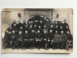 AK Photo Mars 1914 Nimes Franzosische Soldaten Officiers Medaillen Orden Miltaire Francais Uniform - Ausrüstung