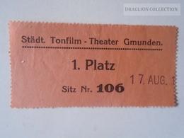 ZA112.15   Städt. Tonfilm - Theater GMUNDEN   -1 Platz - Biglietti D'ingresso