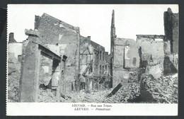 +++ CPA - LOUVAIN - LEUVEN - Rue Aux Tripes - Pensstraat - Ruines - Guerre   // - Leuven