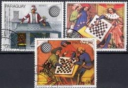 FIDE Schachkongreß In Graz 1985 Paraguay 3906/8 O 4€ Schach-Gemälde Schachspieler Olympiade Art Set Olympics Chess - Echecs