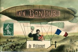 CPA 59 Nord Walincourt Bonjour D'un Ballon Dirigeable - Frankrijk