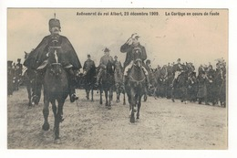 Avènement Du Roi Albert, 23 Décembre 1909.  Le Cortège En Cours De Route. - Manifestazioni