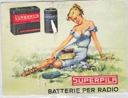 SUPERPILA BATTERIE PER RADIO  RIPRODUZIONE DA ORIGINALE    AUTENTICA 100% - Cartoline