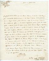 HOMME POLITIQUE DIPLOMATE CHARLES-LOUIS HUGUET DE SEMONVILLE (PARIS 1759-1839) LAS 1806 - Autographs