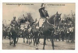 Avènement Du Roi Albert, 23 Décembre 1909.  Le Cortège En Cours De Route. - Manifestations