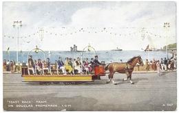 Toast Rack Tram On Douglas Promenade I O M C1940 - Valentine's Art Colour - Isle Of Man