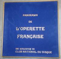 1960 - Panorama De L' OPERETTE Française - 5 Disques Vinyle Dans Coffret Velours Et Livret D'introduction 38 Pages - Oper & Operette