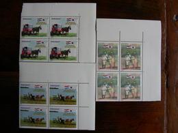 Paraguay Corea 3 X Bloc 4 MNH Carretas Charrette Cheval Boeuf Ox-cart Horse Cart - Stage-Coaches