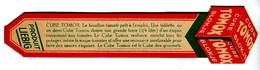 Marque Page Pub Cube Bouillon Tomox - Liebig - Advertising