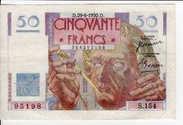 Billet De 50 Francs Le Verrier 1950 29 6 D - 1871-1952 Antiguos Francos Circulantes En El XX Siglo