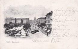 Austria Oostenrijk Wien Naschmarkt Tramway 1901 - Tranvía