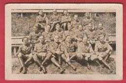 Groupe De Soldats Prisonniers...Oflag XII B (Eichstätt ) Famille Roger Jeremie ...La Louvière - 1 ( Voir Verso) - Oorlog 1939-45