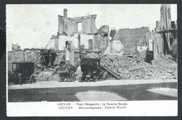 +++ CPA - LOUVAIN - LEUVEN - Guerre - Place Marguerite -La Taverne Royale -  Ruines   // - Leuven