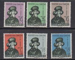 Luxemburg 1938 Caritas 6v * Mh (= Mint, Hinged) (41264)) - Ongebruikt