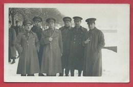 Eischstätt-Oflag V II -B-Camp De Prisonniers Officiers Belges-Officiers Belges, Février 1941-Carte Photo ( Voir Verso) - Guerre 1939-45