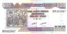 Burundi  P-45b  500 Francs  2011  UNC - Burundi
