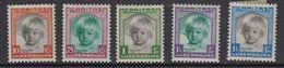 Luxemburg 1931 Caritas 5v * Mh (=mint, Hinged) (41264A) - Ongebruikt