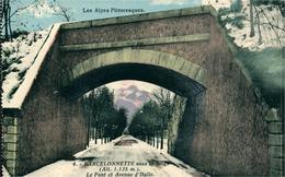 BARCELONNETTE Sous La Neige Le Pont Et L'Avenue D'Italie Ed Luciani N°4 - Barcelonnette
