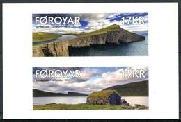2017 - Fær Øer / FAROER - PAESAGGIO / LANDSCAPE - SET ADESIVO DA LIBRETTO / ADHESIVE SET FROM BOOKLET. MNH. - Isole Faroer