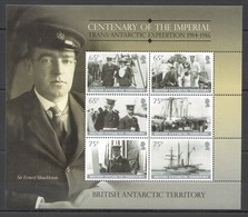 P871 BRITISH ANTARCTIC TERRITORY SHIPS IMPERIAL EXPEDITION MICHEL 17 EURO KB MNH - Barcos