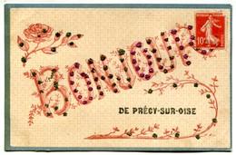 Vlc 60 - Un Bonjour De Précy Sur Oise (paillettes) - Précy-sur-Oise