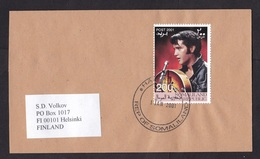 Somalia: Cover Hargeisa To Finland, 2001, 1 Stamp, Elvis Presley, Pop Music, Rare Real Use (traces Of Use) - Somalië (1960-...)
