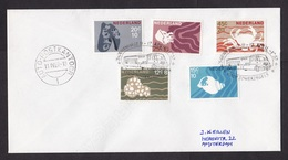 Netherlands: Cover, 1967, 5 Stamps, Sea Life, Special Cancel Mobile Car Post Office, Auto-Postkantoor (traces Of Use) - 1949-1980 (Juliana)