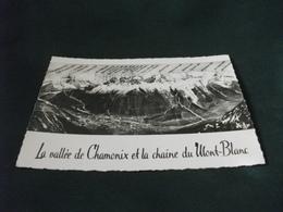 CARTA GEOGRAFICA CHAMONIX MONT - BLANC LA VALLEE DE CHAMONIX ET LA CHAINE DU MONT BLANC - Carte Geografiche