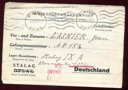 France / Allemagne - Formulaire De St Mandé Pour Camp De Prisonnier  Stalag IXA En 1940 - N64 - Guerre De 1939-45
