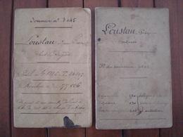 Livrets Service Des Douanes 1872 Et 1908. - Documents