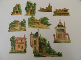 Découpis Exposition Universelle 1889 Les époques Moyen Age Roman  Architecture -chromo -  1H4 - Découpis