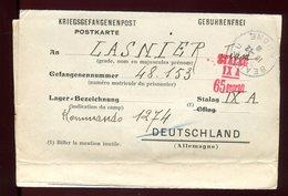 France / Allemagne - Formulaire Pour Stalag  IX A  En 1940  De Beaujeu - N68 - Guerre De 1939-45