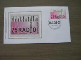 """BELG.2005 3415 FDC Silk-soie-zijde  """"75 Jaar Radio """"   (album 111) - 2001-10"""