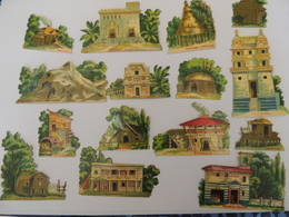 Découpis Exposition Universelle 1889 Les Pays  Architecture -chromo -  1H5 - Découpis