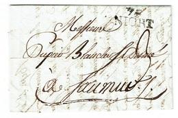DEUX SEVRES 79 NIORT LAC Du 13 Vendémiaire An 11 Linéaire 75/NIORT Taxe 3 TB - Postmark Collection (Covers)