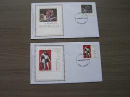 "BELG.2005 3430 & 3431 FDC Silk-soie-zijde  "" Europalia - Rusland""  (album 111) - 2001-10"